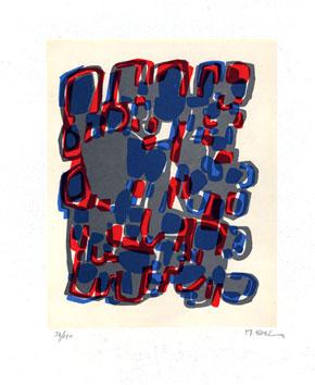 Ubac Raoul : Lithographie originale signée : Formes groupées I