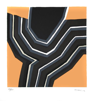 Ubac Raoul : Lithographie originale signée : Composition