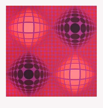 Vasarely Victor : Sérigraphie originale signée : Composition D