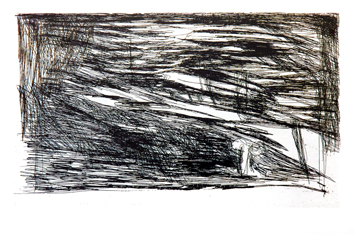Vieira Da Silva : Gravure originale signée : Les Livres