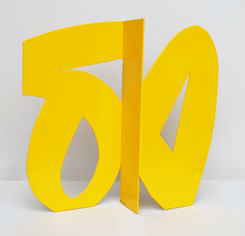 Cl�ment Alain : Original signed sculpture : Yellow sculpture