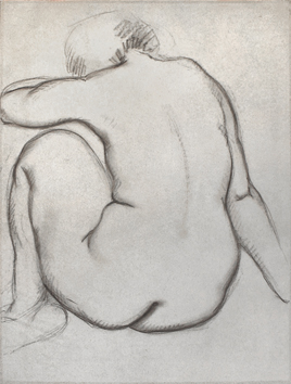 Original drawing de  : Study of a nude XII