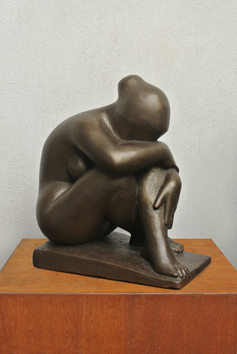 Original signed sculpture de Jaoul André : Intimacy
