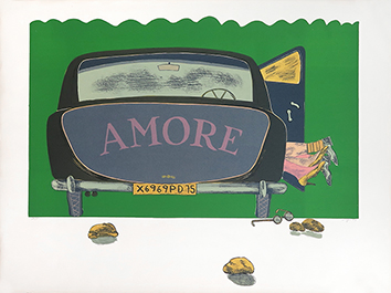 Original signed lithograph de  : Amore