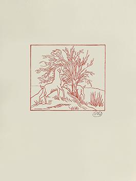 Bois gravé original de  : Les Géorgiques II