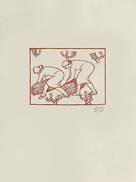Bois gravé original de  : Les Géorgiques III