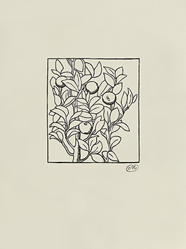 Bois gravé original de  : Les Géorgiques V