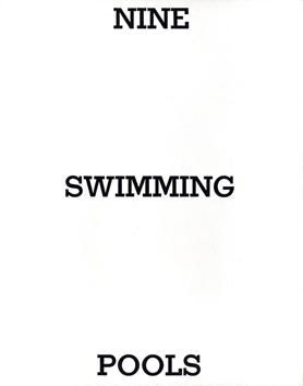 Signiertes Original-Buch de  : Nine swimming pools