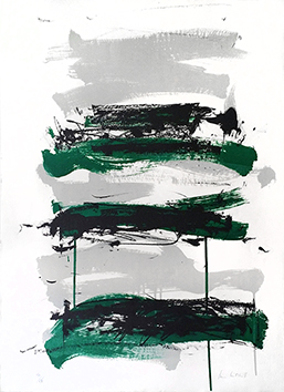 Original signed lithograph de  : Composition VII