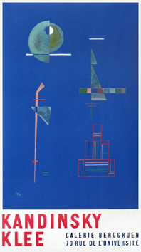 Kandinsky Wassily : Lithograph poster : Poster of exhibition Berggruen II