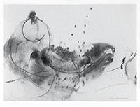 Signed drawing in ink de  : Composition without title XXVIII
