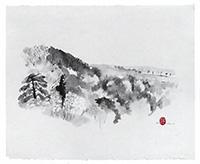Signierte Tinte-Zeichnung de  : Komposition ohne Titel XXIX