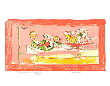 Original signed lithograph de  : Articulated forms