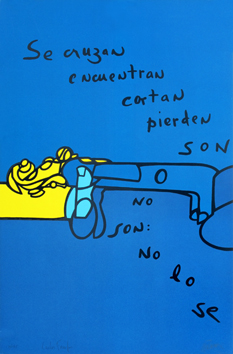Original signed screenprint de  : No lo se