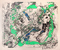 Original signed monotype de  : Green circle