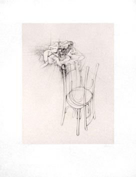Bellmer Hans : Gravure originale sign�e : Les chaises