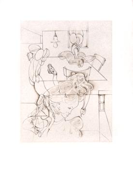 Bellmer Hans : Gravure sign�e : La salle � manger