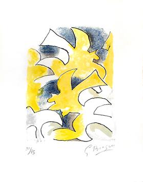 Braque Georges : Lithographie originale signée : Migration