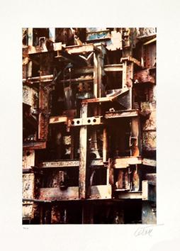 César Baldaccini : Lithographie : Hommage à la Tour Eiffel