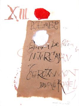 Clavé Antoni : Dessin original signé : Projet pour - Les Troubadours -
