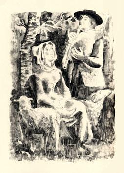 Clavé Antoni : Livre illustré : Chansons du passé