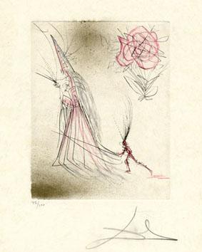 Dali Salvador : Gravure : Spectre... la rose