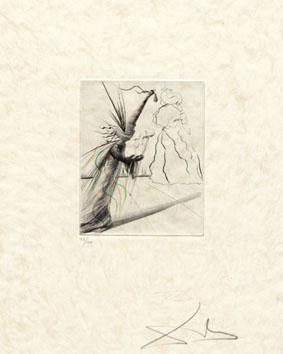 Dali Salvador : Gravure originale : L'Illusionniste