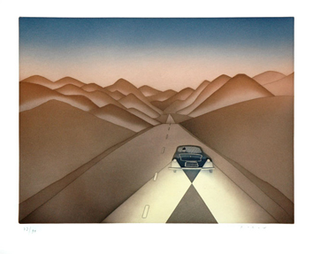 Folon Jean Michel : Etching signed : On the road