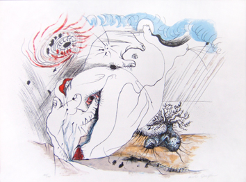 Masson André : Lithographie originale : Titre inconnu III