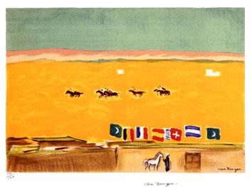 Van Dongen Kees : Lithographie originale : Polo à Alexandrie