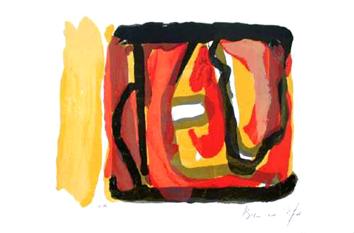 Van Velde Bram : Lithographie signée : Composition XII