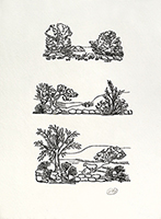 Signierte originale Holzschnitt de  : Les Géorgiques VI