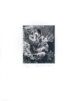 Original signed etching de  : Tire-langue