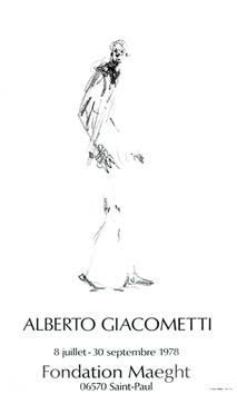 Giacometti Alberto : Affiche lithographie : Dessin II