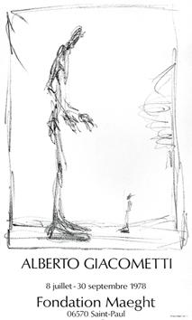 Giacometti Alberto : Affiche originale : Dessin I