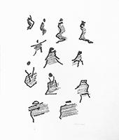 Lithographie originale signée de  : Par la voie des rythmes XIV