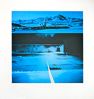 Serigraphie de  : La Death Valley à Zabriskie Point
