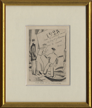Original signed engraving de  : L'embarquement