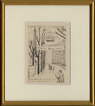 Original signed etching de  : The closed exhibition