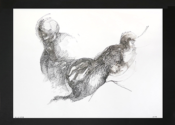 Signed drawing in ink de  : Unknown title XIII