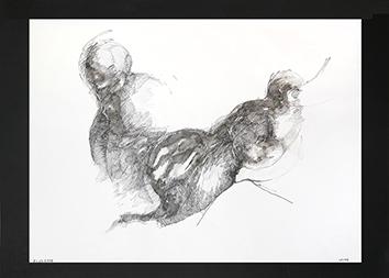 Signierte Tinte-Zeichnung de  : Unbekannter Titel XIII