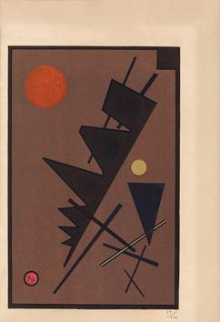 Litografia di Kandinsky Wassily : Composizione