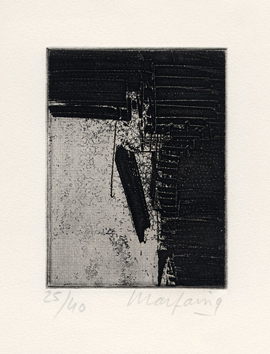 Signed etching de  : Without title XVII