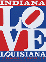 Affiche sérigraphie de Indiana Robert : Love Louisiana