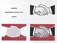 Signed lithograph de  : Castelli Handshake Poster