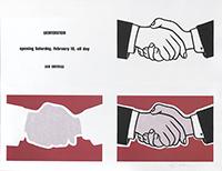 Signierte Lithographie de  : Castelli Handshake Poster