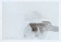 Signed drawing in pencil de  : Composition without title XXXI