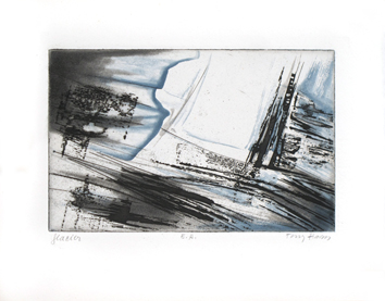 Original etching aquatint de Haass Terry : Glacier