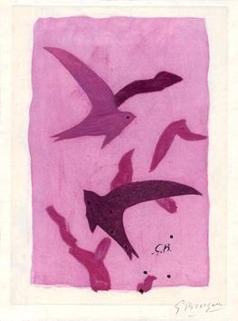 Braque Georges : Gravure signée : Paroles peintes