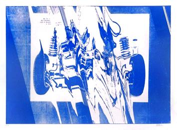 César Baldaccini : Sérigraphie originale signée : Automobile